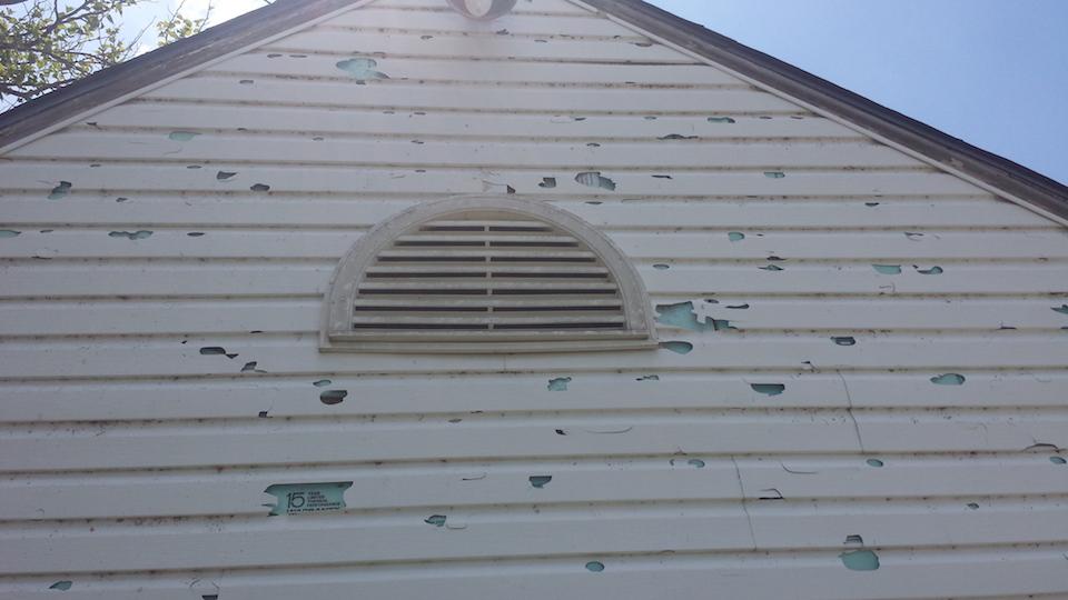 Gallery knptx for Hail damage vinyl siding